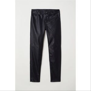 H&M faux leather jeans